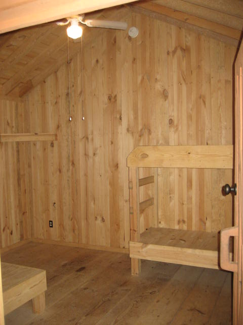 Cabin inside bunks