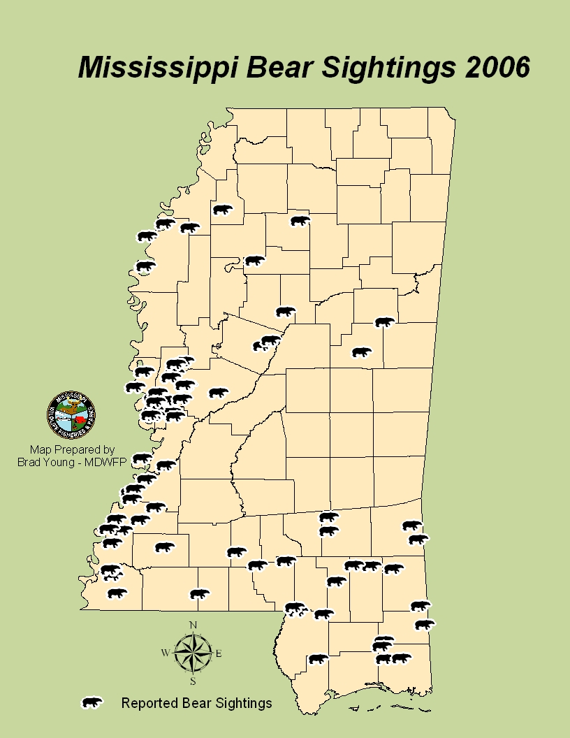 Bear maps for Mississippi fishing license cost