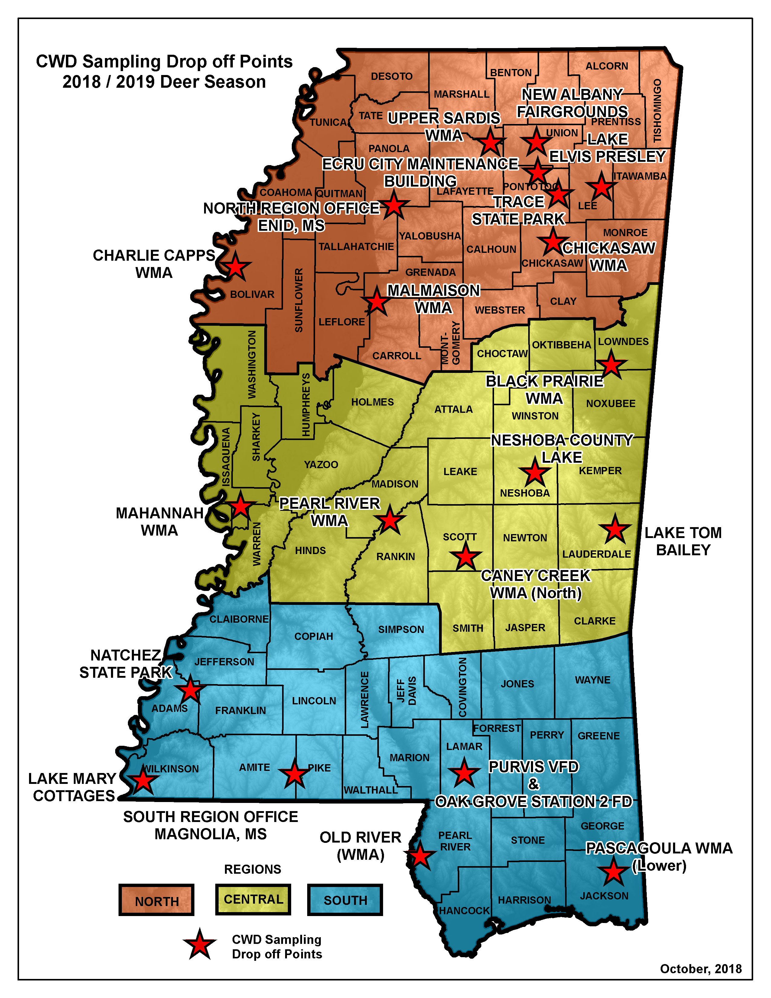 MDWFP - MDWFP Provides CWD Sampling for Hunters Statewide on bay saint louis ms map, ms city map, ms map towns highways, ms la map, nesbit ms map, mississippi map, morton ms map, ms state map, memphis ms map, clarksdale ms map, ms county map, ms st map, rand mcnally missouri state map, town of hempstead ny map, jayess ms map, brookhaven ms map, stoneville ms map, miss map, kentucky county map, long beach ms zoning map,