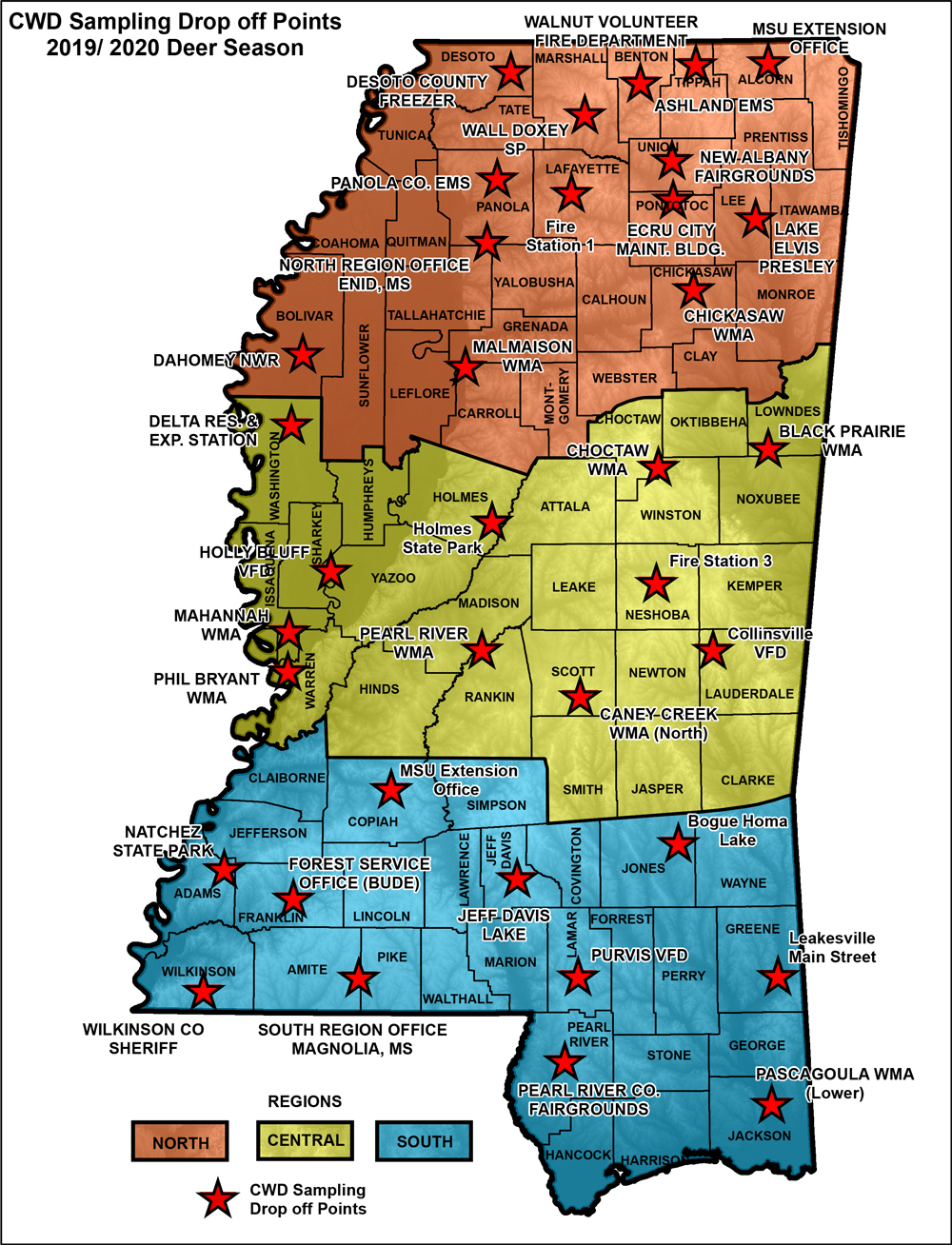 MDWFP - Sample Collection on desoto zoning map, desoto county map, desoto parish line map, desoto parish school zone map, desoto traffic map,
