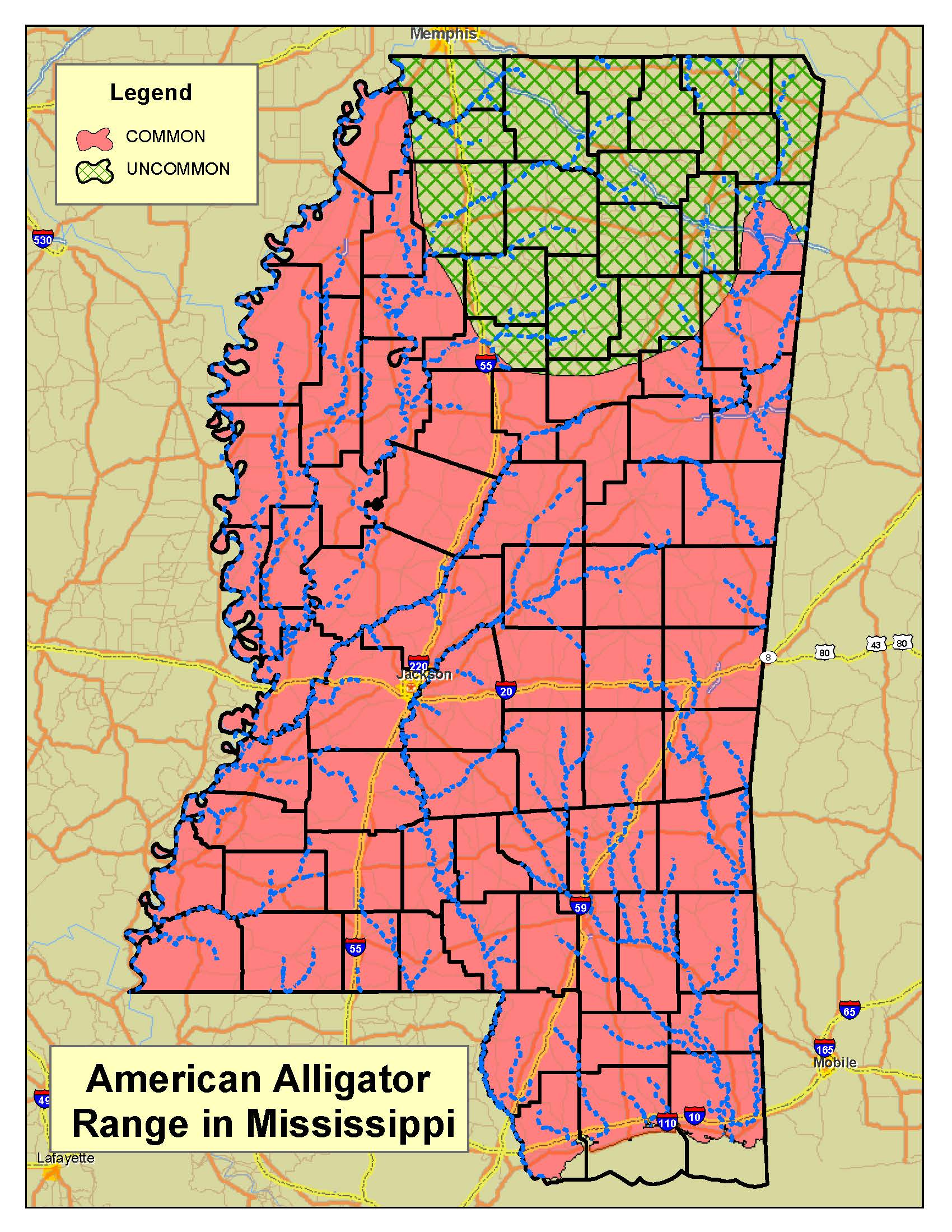 MDWFP - Alligator Program on hattiesburg city limits, hattiesburg ms flood maps, high point nc zoning maps,
